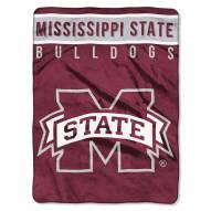 Mississippi State Bulldogs Basic Plush Raschel Blanket