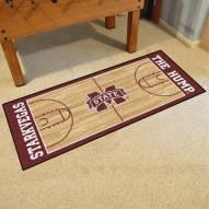 Mississippi State Bulldogs Basketball Court Runner Rug