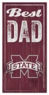 Mississippi State Bulldogs Best Dad Sign