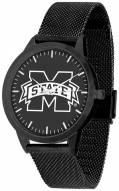 Mississippi State Bulldogs Black Dial Mesh Statement Watch