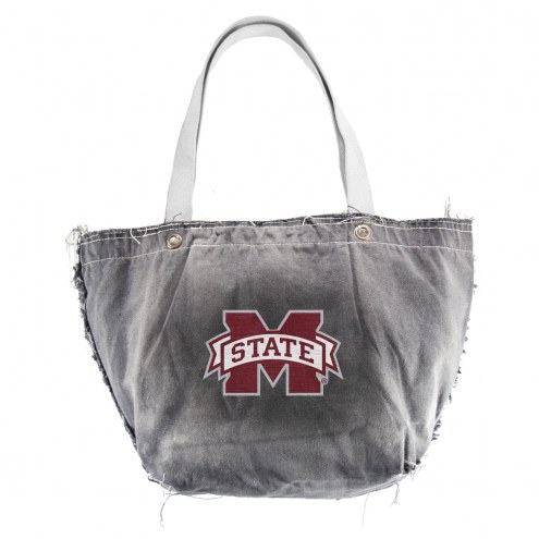Mississippi State Bulldogs Black NCAA Vintage Tote Bag