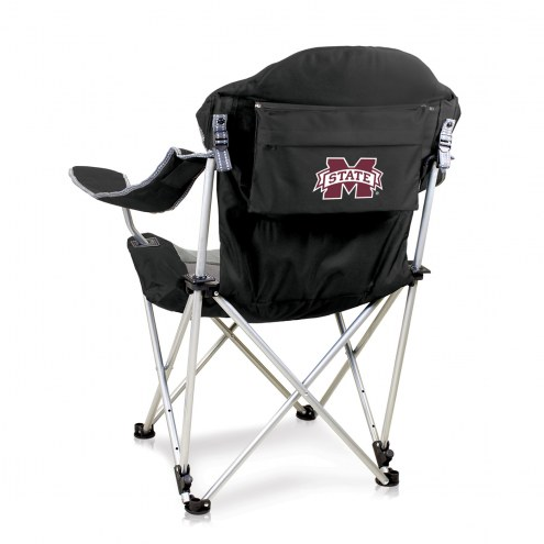 Mississippi State Bulldogs Black Reclining Camp Chair