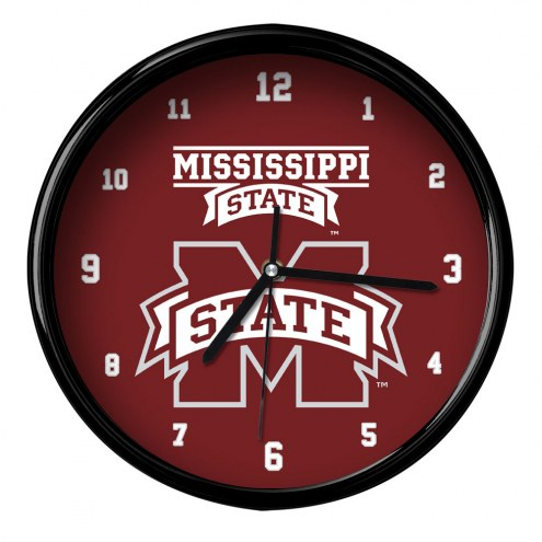 Mississippi State Bulldogs Black Rim Clock