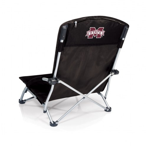 Mississippi State Bulldogs Black Tranquility Beach Chair