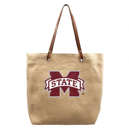 Mississippi State Bulldogs Burlap Market Tote