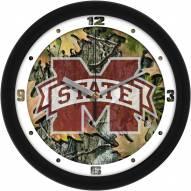 Mississippi State Bulldogs Camo Wall Clock