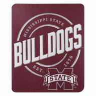 Mississippi State Bulldogs Campaign Fleece Throw Blanket