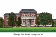 Mississippi State Bulldogs Campus Images Lithograph