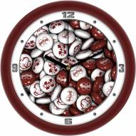 Mississippi State Bulldogs Candy Wall Clock