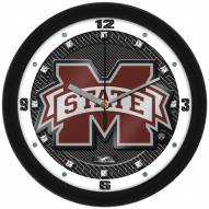 Mississippi State Bulldogs Carbon Fiber Wall Clock