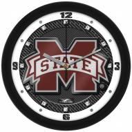 Mississippi State Bulldogs Carbon Fiber Wall Clock