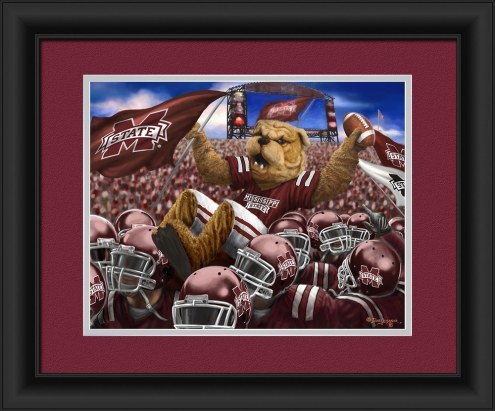 Mississippi State Bulldogs Celebration Framed Print