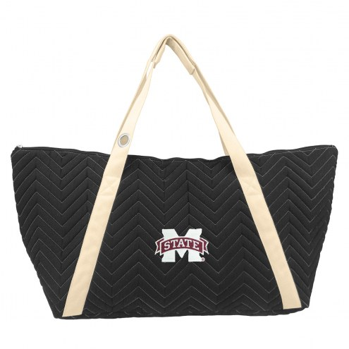 Mississippi State Bulldogs Chevron Stitch Weekender Bag