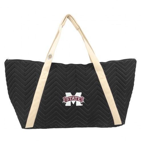 Mississippi State Bulldogs Chevron Stitch Weekender Bag