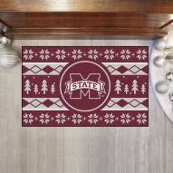 Mississippi State Bulldogs Christmas Sweater Starter Rug
