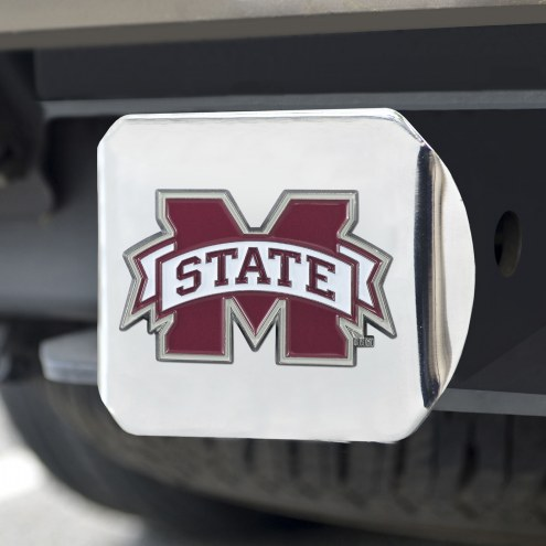 Mississippi State Bulldogs Chrome Color Hitch Cover