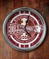 Mississippi State Bulldogs Chrome Wall Clock