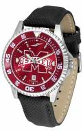 Mississippi State Bulldogs Competitor AnoChrome Men's Watch - Color Bezel