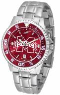 Mississippi State Bulldogs Competitor Steel AnoChrome Color Bezel Men's Watch
