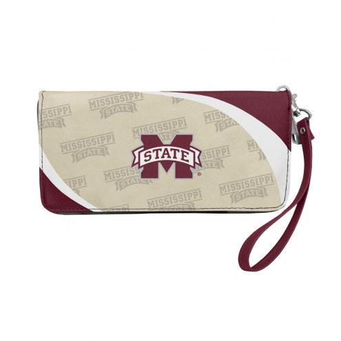 Mississippi State Bulldogs Curve Zip Organizer Wallet