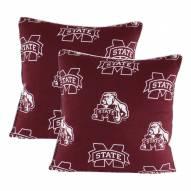 Mississippi State Bulldogs Decorative Pillow Set