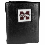 Mississippi State Bulldogs Deluxe Leather Tri-fold Wallet in Gift Box