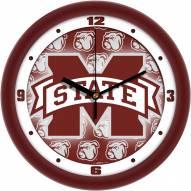 Mississippi State Bulldogs Dimension Wall Clock