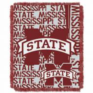 Mississippi State Bulldogs Double Play Woven Throw Blanket