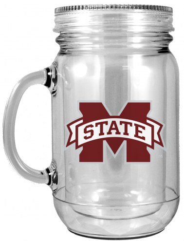 Mississippi State Bulldogs Double Walled Mason Jar