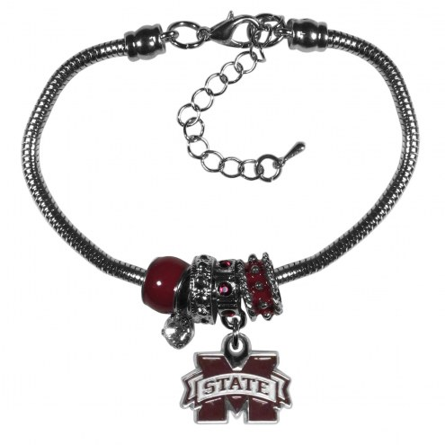 Mississippi State Bulldogs Euro Bead Bracelet