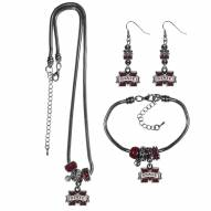 Mississippi State Bulldogs Euro Bead Jewelry 3 Piece Set