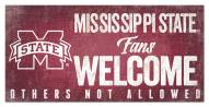 Mississippi State Bulldogs Fans Welcome Sign