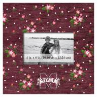"""Mississippi State Bulldogs Floral 10"""" x 10"""" Picture Frame"""