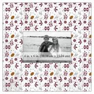 """Mississippi State Bulldogs Floral Pattern 10"""" x 10"""" Picture Frame"""