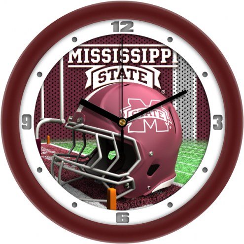 Mississippi State Bulldogs Football Helmet Wall Clock
