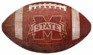 Mississippi State Bulldogs Football Shaped Sign