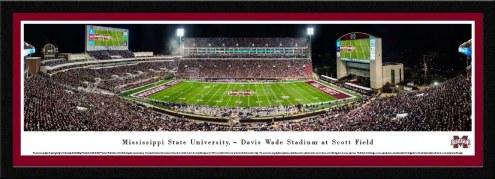 Mississippi State Bulldogs Framed Stadium Print