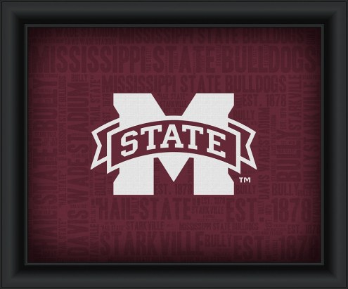Mississippi State Bulldogs Framed Word Cloud