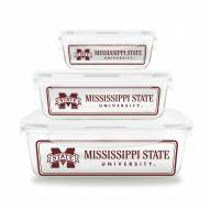 Mississippi State Bulldogs Glass Food Container Set