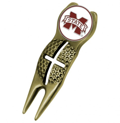 Mississippi State Bulldogs Gold Crosshairs Divot Tool