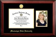 Mississippi State Bulldogs Gold Embossed Diploma Frame with Portrait