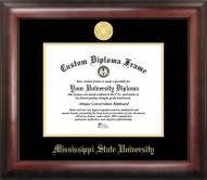 Mississippi State Bulldogs Gold Embossed Diploma Frame