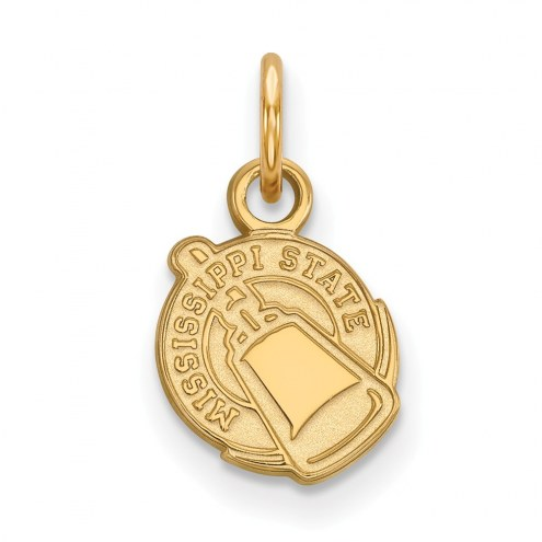 Mississippi State Bulldogs Sterling Silver Gold Plated Extra Small Pendant