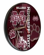 Mississippi State Bulldogs Digitally Printed Wood Clock