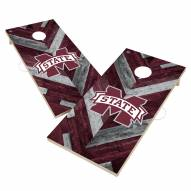 Mississippi State Bulldogs Herringbone Cornhole Game Set