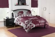 Mississippi State Bulldogs Hexagon Full/Queen Comforter & Shams Set