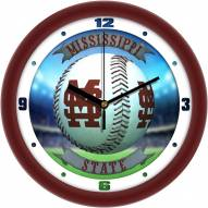 Mississippi State Bulldogs Home Run Wall Clock