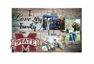 Mississippi State Bulldogs I Love My Family Clip Frame