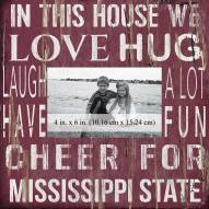 """Mississippi State Bulldogs In This House 10"""" x 10"""" Picture Frame"""