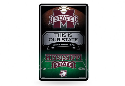Mississippi State Bulldogs Large Embossed Metal Wall Sign